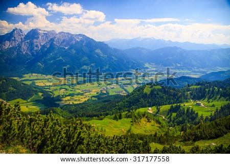 Distant mountain view, Austria, Styria