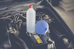Distilled water battery, car maintenance