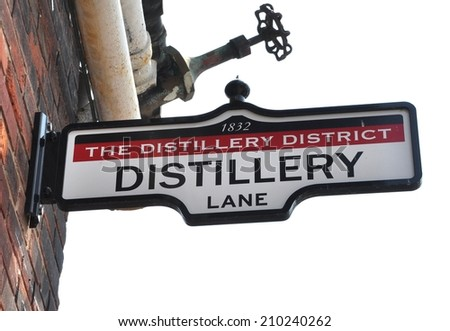 Distillery district sign