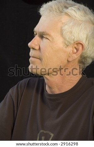 stock photo distinguished mature white man in dark t shirt gray hair dark background side view 2916298 My First Sex Teacher, Teacher Porn Videos   Naughty America