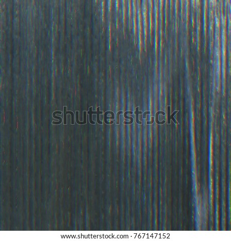 Distorted monitor screen background with glitch visual effects and decorative noise pixels. #767147152