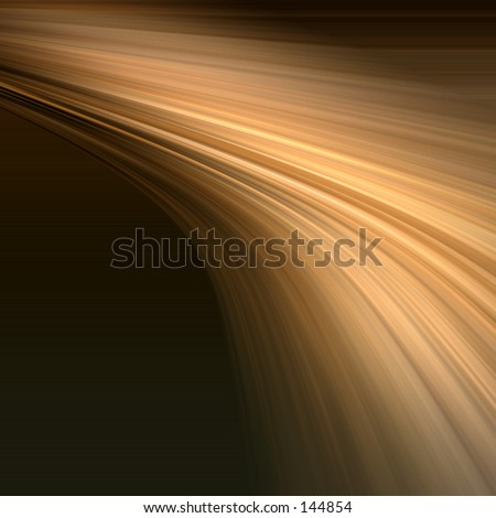 Distorted rays of gold light