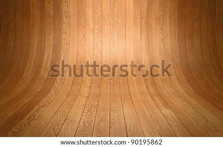 distorted wooden floor planks background