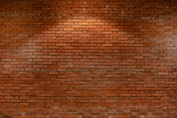 Distressed red brick wall background