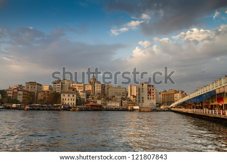 District located on the European side of Istanbul, Turkey, separated from the old city  by the Golden Horn/ Istanbul city/