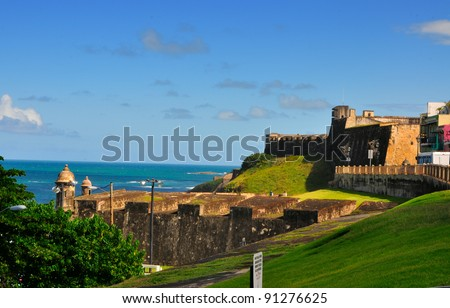 district of Old San Juan, Puerto Rico, including an old cemetery