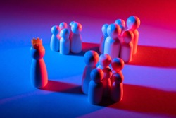 Disunity in society. Groups in a team. People are divided into groups. The concept of a divided society. Groups in a team. Each group has its own goals. The concept of a conspiracy.