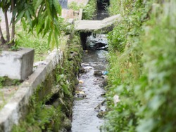ditch with a water in the City