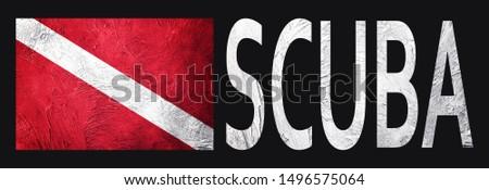 Diver Down Flag, Vintage Style Scuba flag. #1496575064