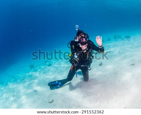 Diver on the reaf of Red sea #291552362