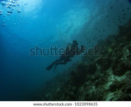 diver photographer in anilao batangas #1023098635