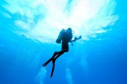 Diver rising