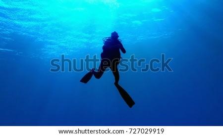 Diver silhouette #727029919