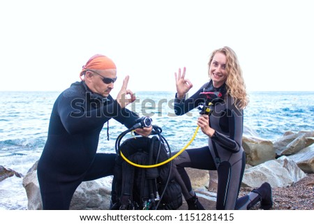 divers check equipment #1151281415