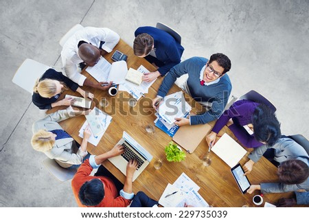 Diverse Business People Working in a Conference
