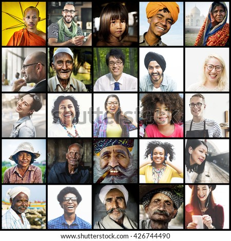 Diverse Ethnic Diversity Ethnicity Community Concept #426744490
