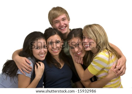 Diverse group of happy friends