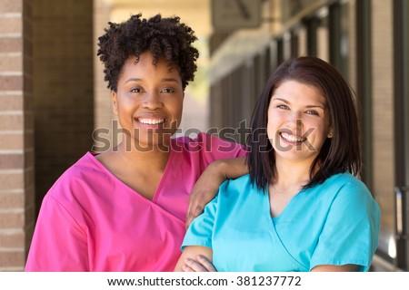 Diverse group of nurses.