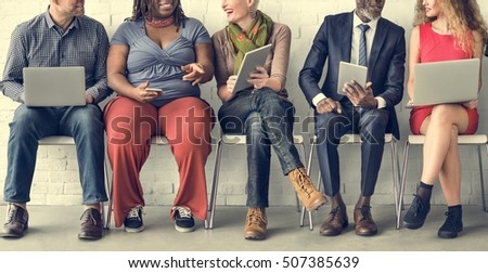 Diverse Group of People Community Togetherness Technology Sitting Concept - Shutterstock ID 507385639