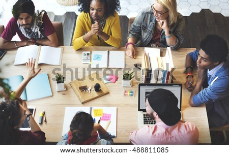 Diverse Group People Working Together Concept #488811085
