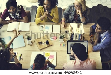 Diverse Group People Working Together Concept #490909543