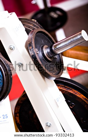 diverse gym machines at the gym room - stock photo