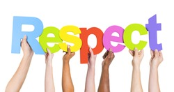 Diverse Hands Holding Colorful Respect