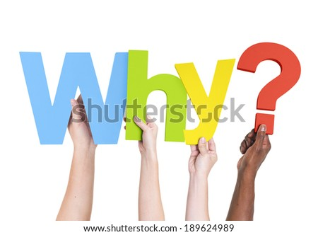 Diverse Hands Holding The Word Why?
