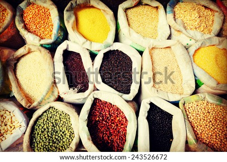 Diverse Multi Colored Legume Bean Sack Market