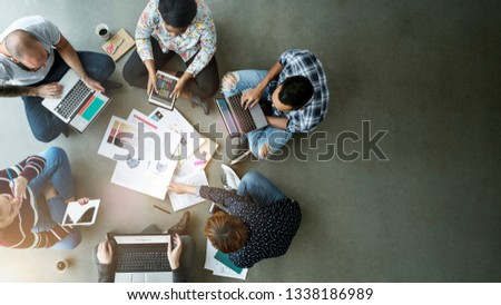 Diverse people brainstorming new ideas