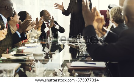 Diverse People Clapping Hands Conference #573077014