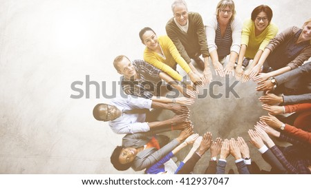 diverse people friendship...