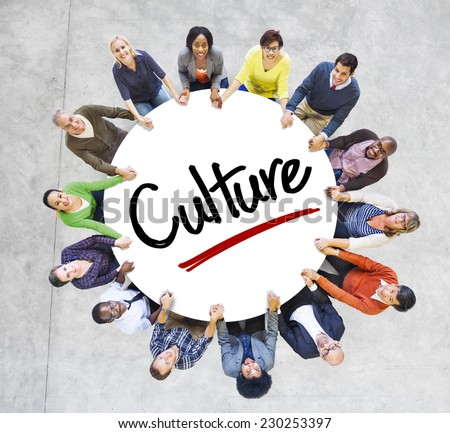 Diverse People in a Circle with Culture Concept