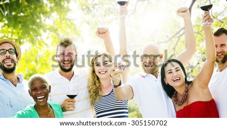 Diverse People Luncheon Outdoors Food Concept #305150702