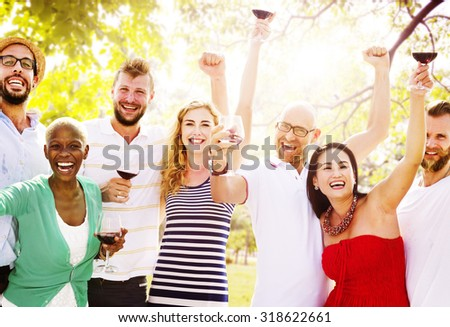 Diverse People Luncheon Outdoors Food Concept #318622661