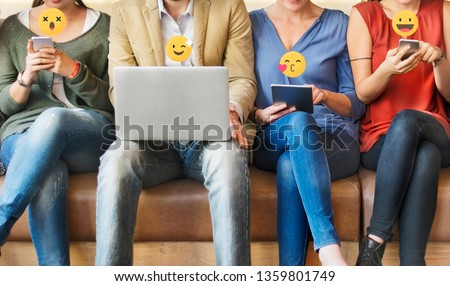 Diverse people using digital devices #1359801749