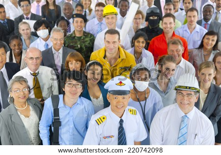 Diverse People With Various Occupations