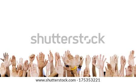 Diverse Raised Hands Stock photo ©