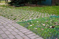 diverse surfaces of footpaths and pavements with different water abosrbability