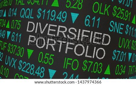 Diversified Portfolio Stock Market Investment Strategy 3d Illustration Stock photo ©