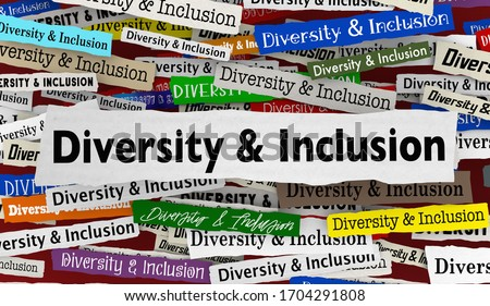 Diversity and Inclusion News Headlines Trends Diverse Include Everyone 3d Illustration Foto d'archivio ©