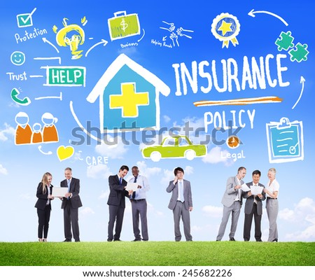 Diversity Business People Insurance Policy Discussion Working Concept #245682226