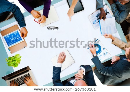 Diversity Business Team Planning Board Meeting Strategy Concept