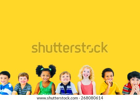 Diversity Children Friendship Innocence Smiling Concept - Shutterstock ID 268080614
