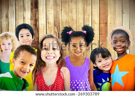 Diversity Children Friendship Innocence Smiling Concept #269303789