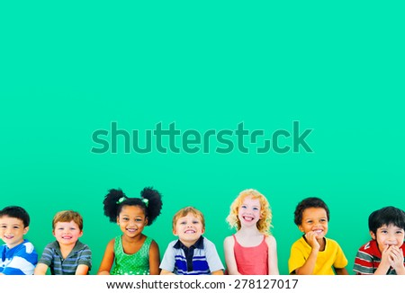 Diversity Children Friendship Innocence Smiling Concept - Shutterstock ID 278127017