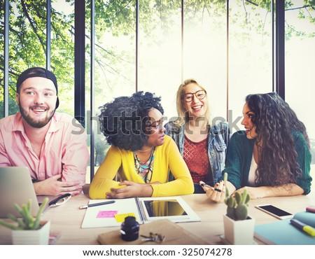 Diversity Friends Team Brainstorming Community Concept #325074278