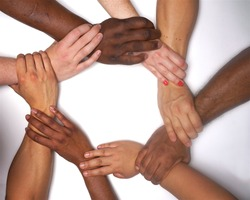 Diversity  hands  people  racial harmonny,