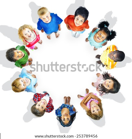 Diversity Innocence Children Friendship Aspiration Concept