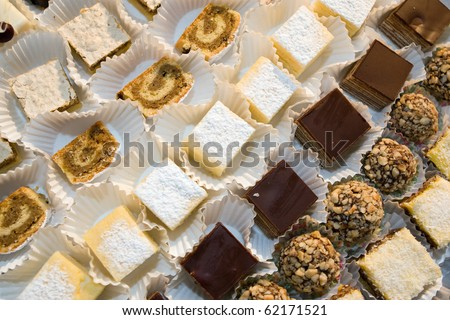 Diversity of delicious pastry